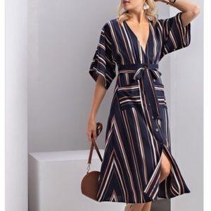 Dresses & Skirts - 🚨BUY 2 GET 1 FREE!🚨✨LAST 3✨Striped Midi Dress